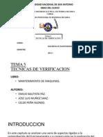 Tecnicas Verificacion Tema 5 - Ing. Mantenimiento
