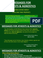 Messages for Atheists & Agnostics from Maria Divine Mercy