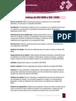 Glosario de Terminos ISO 9000 e ISO 14000