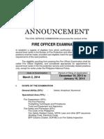 2014 Foe Announcement