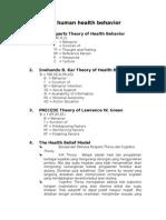 Theories of Human Health Behavior
