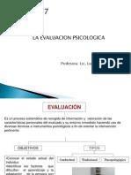 Clase 7 Evaluación Psicológica