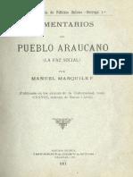 Comentarios del Pueblo Araucano. Manuel Manquilef. La faz Social ..