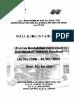 NOTA KURSUS TAHUN 2006 - Analisa Kesetabilan Cerun Dan Rekabentuk Tembok Penahan - 16-05-2006