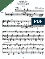 Tchaikovsky - Piano & Violin - Serenade Melancolique