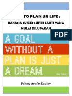HOW TO PLAN UR LIFE