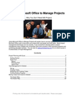 Using MS Office to Manage Projects