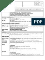 standard resume template 3th draft