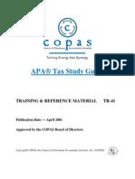 TR-41 APA Tax Study Guide
