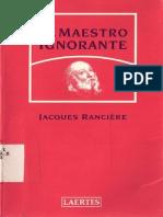 Rancière, Jaques - El Maestro Ignorante