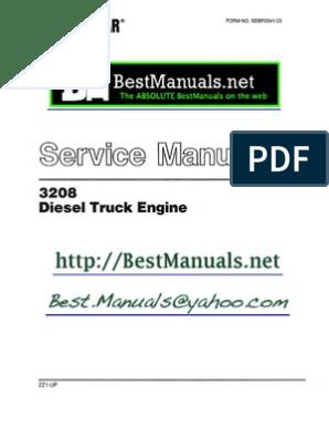 Caterpillar 3208 Diesel Engine SM Manual Copy One | Vehicle