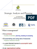 Strategic Analysis and Planning Mohshin Habib