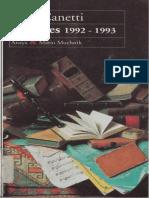 Elías Canetti- Apuntes 1992-1993