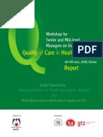 Shimla Report (Workshop on Quality)