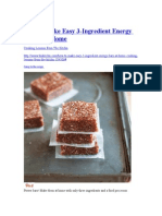 3 Ingridients Energy Bars
