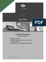 Switchboard Instruments Data Sheet 4921210012 UK