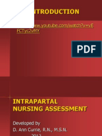Intrapartal Assessment 2012