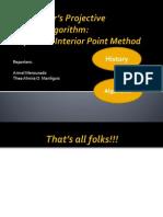 Report on Interior Point algorithm method