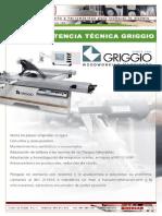 Asistencia tecnica Griggio y recambios, piezas de repuesto.