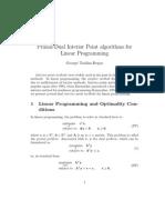 Primal-Dual Interior Point Method Report