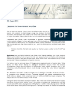 Lessons in Investment Warfare