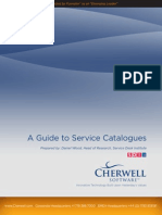 Guide Service Catalogues