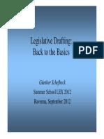 Legislative Drafting in Germany