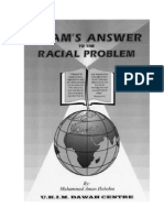 ISLAM'S ANSWER TO THE RACIAL PROBLEM