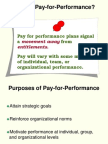 Pay for Performance Plans