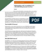 AAA serives & Radius Diameter Protocol overview