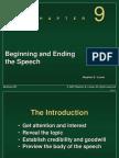 Chapter 9 -- Beginning Ending the Speech