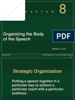 Chapter 8 -- Organizing the Body of the Speech