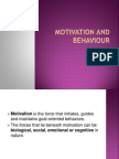 Motivation and Behaviour