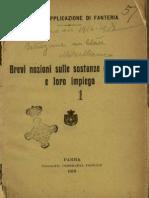 Brevi Nozioni Sulle Sostanze Esplosive e Loro Impiego - 1918