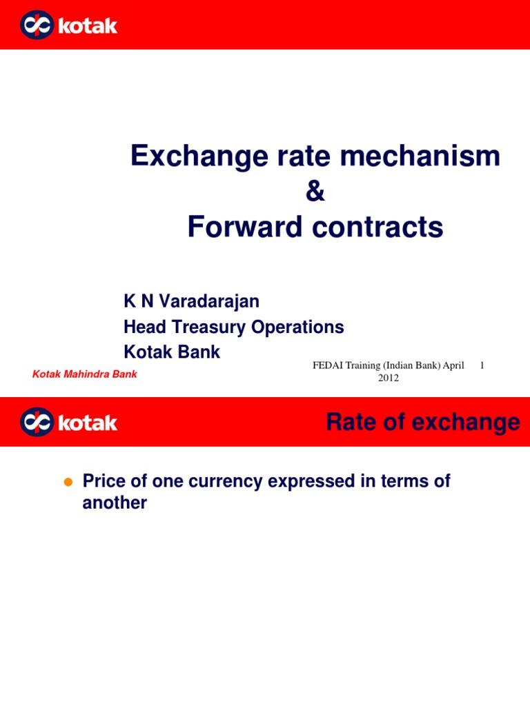 exchange rate mechanism in india