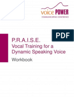 PRAISE Vocal Training for a Dynamic Speaking Voice Workbook 1