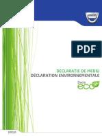 Declaratia de Mediu Dacia