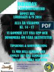 Inbjudan Öppet Hus 6 Sept 14