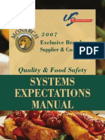 2007 Supplier Food Safety Expectations Manual