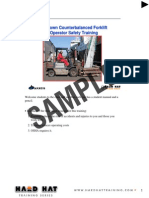 Sit Down Forklift Instructors Notes