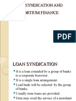 Loan Syndication and Consortium Finance 1