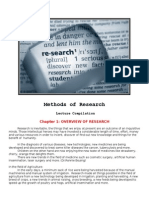 Methods of Research- Handout