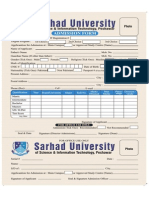Admission Form Fall 2014
