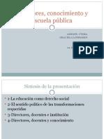Graciela Lombardi - Directores Conocimiento y Escuela Publica