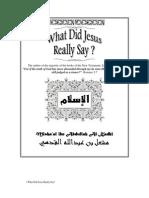 What Did Jesus Really Say By Misha'al ibn Abdullah Al-Kadhi