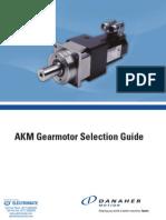 Kollmorgen AKM Gearmotor Catalog