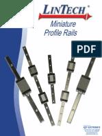 LinTech Miniature Profile Rail Catalog