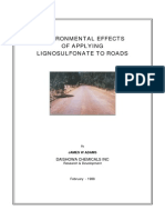 Enviromental Effects of Applying Lignosulphonate to Roads (2)