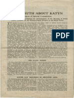 Soviet Report - The Truth About Katyn - Report of Special Commission for Ascertaining and Investigating the Circumstances of the Shooting of Polish Officer Prisoners by the German-Fascist Invaders in the Katyn Forest