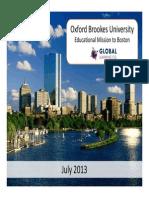 Brookes Boston Seminar 2013